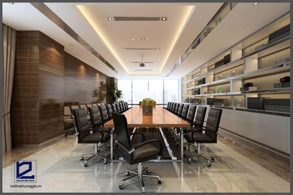 Thiết kế phòng họp nhỏ Quận ủy Thanh Xuân PH-DG23  góc 2