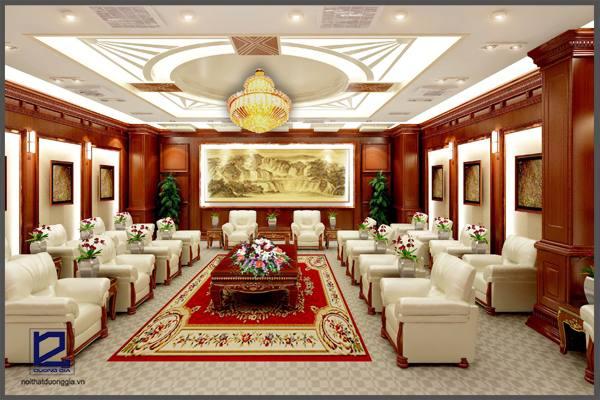 Thiết kế nội thất phòng khánh tiết KT-DG02 góc 1.