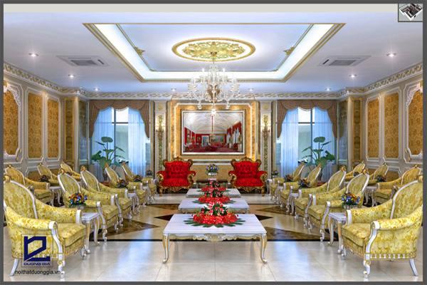 Thiết kế nội thất phòng khánh tiết KT-DG04 góc 1.