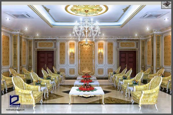 Thiết kế nội thất phòng khánh tiết KT-DG04 góc 2