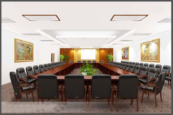 Trang trí phòng họp chuyên nghiệp.