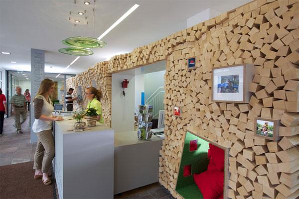 Giá trị của thiết kế văn phòng du lịch phụ thuộc cách phân chia không gian