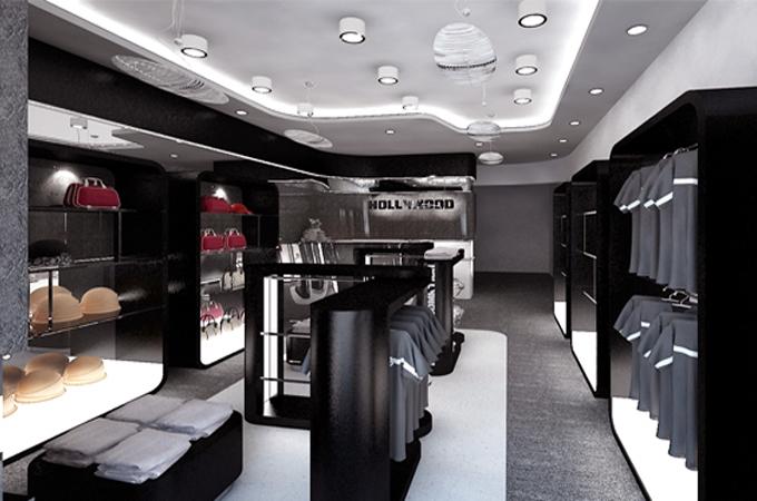 Thiết kế showroom với màu sắc, ánh sáng hợp lý
