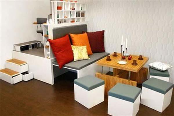 Bố trí nội thất trong không gian nhỏ chú ý sử dụng nội thất có kiểu dáng và màu sắc hài hòa