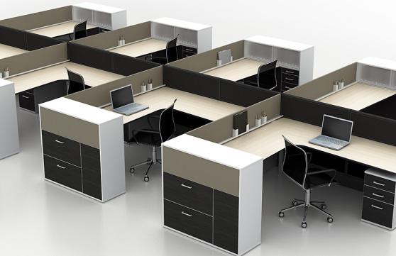 Thi công bàn ghế văn phòng với việc bố trí bàn ghế khoa học, hợp lý