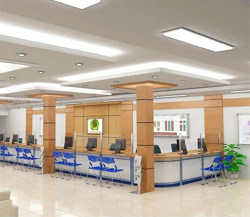 Thiết kế văn phòng ngân hàng đảm bảo tính thẩm mỹ và khoa học