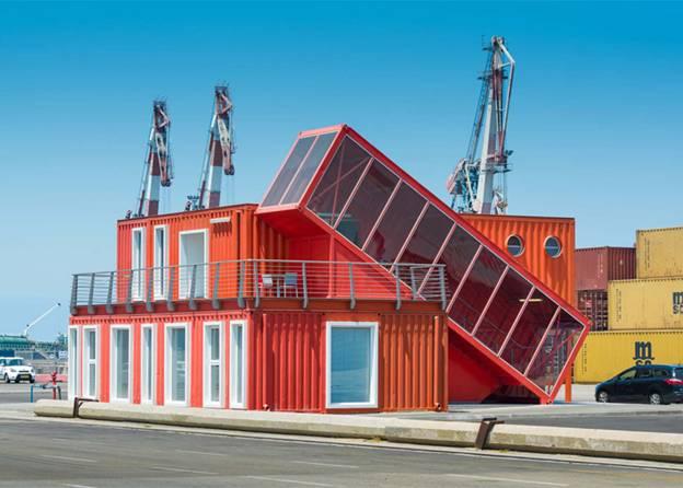 Thiết kế container văn phòng tạo nên sự thú vị, mới mẻ cho không gian