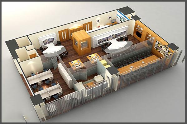Dự án thiết kế thi công nội thất văn phòng làm việc do công ty nội thất Dương Gia Việt Nam thực hiện