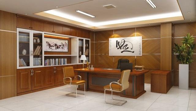 Thiết kế nội thất phòng Giám đốc theo phong thủy - vị trí tủ tài liệu