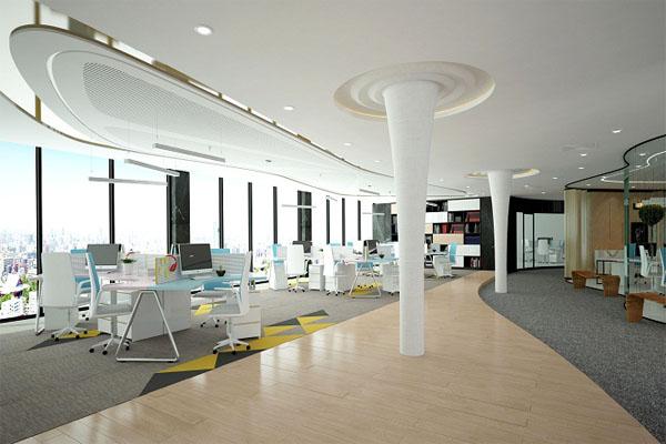 Thiết kế nội thất theo không gian mở giúp nhân viên có thêm ý tưởng sáng tạo
