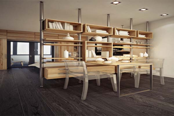 Bố trí nội thất trong không gian nhỏ nên phân tách không gian bằng những vật liệu thông minh