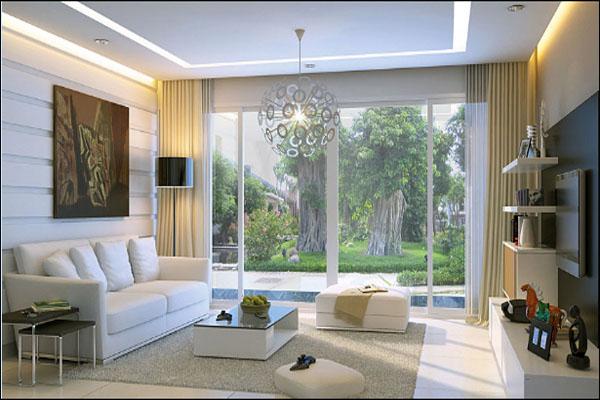 Mẫu thiết kế nội thất phòng khách của gia đình theo phong cách không gian mở