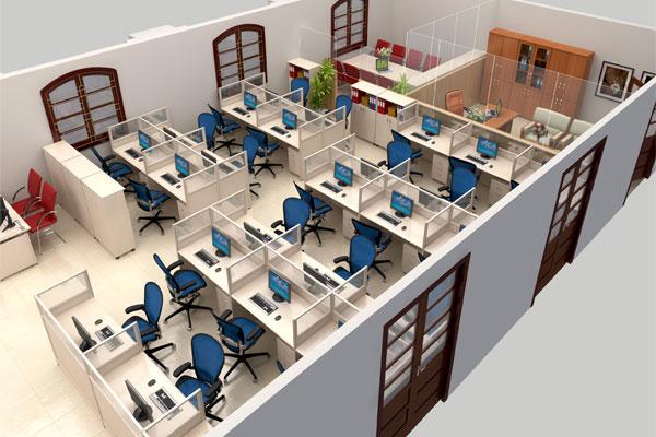 Lựa chọn tủ tài liệu khi thiết kế văn phòng mini