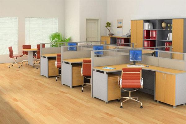 Lựa chọn bàn làm việc khi thiết kế văn phòng mini