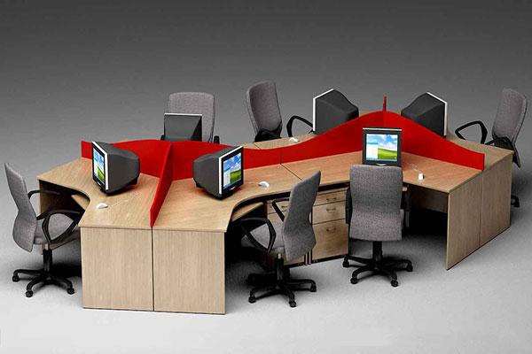 Bàn làm việc loại lớn được thiết kế dạng module dành cho nhiều vị trí ngồi đang rất được ưa chuộng.