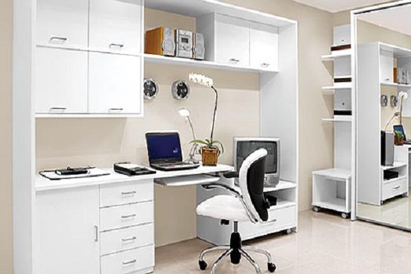 Bàn làm việc có giá sách tiết kiệm diện tích căn phòng
