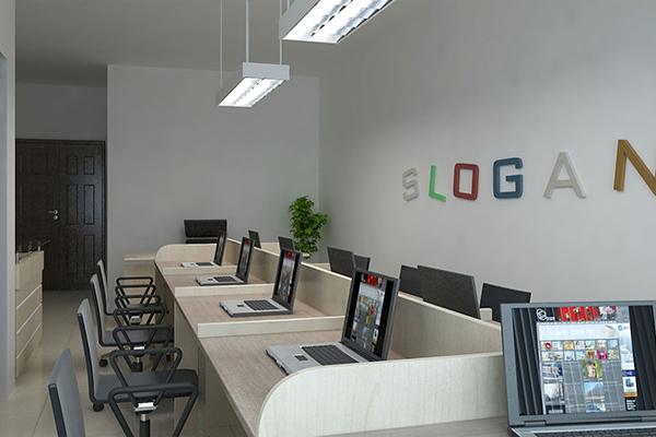 Kích thước ghế làm việc phụ thuộc diện tích văn phòng.