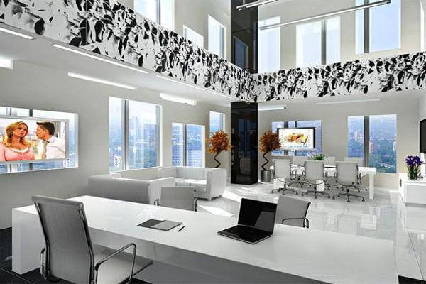 Mẫu thiết kế văn phòng làm việc hiện đại số 2