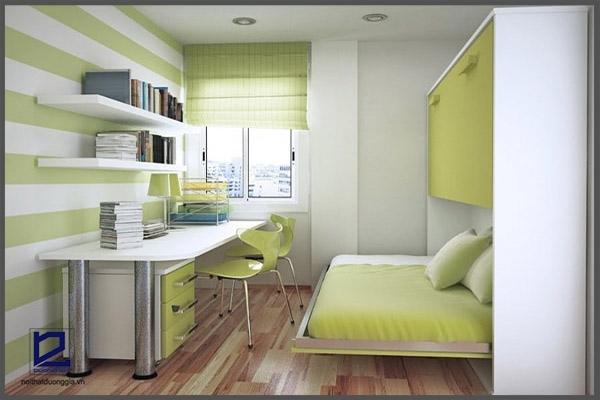Đặt bàn làm việc trong phòng ngủ đúng vị trí giúp bạn tập trung làm việc, may mắn trong đường công danh tài lộc