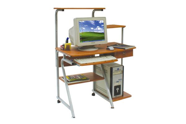 Bàn làm việc 2 tầng sử dụng để máy tính, máy fax.