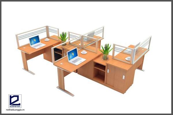 Cụm bàn làm việcNT-MD01C3 phù hợp với công ty, tập đoàn lớn.