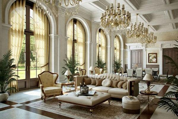 Thiết kế nội thất cổ điển cho không gian gia đình mẫu 3.