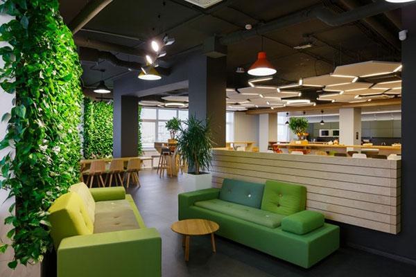 Thiết kế văn phòng kết hợp quán cafe.