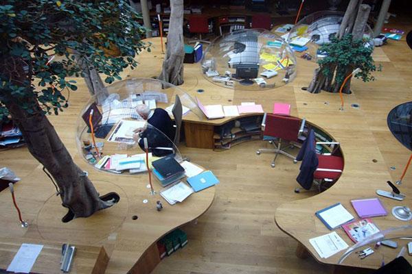 Ý tưởng thiết kế văn phòng độc đáo với nội thất bong bóng