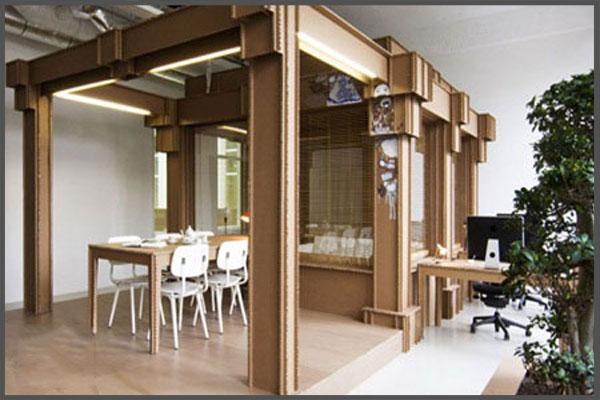 Ý tưởng thiết kế văn phòng độc đáo từ những vật liệu bỏ đi