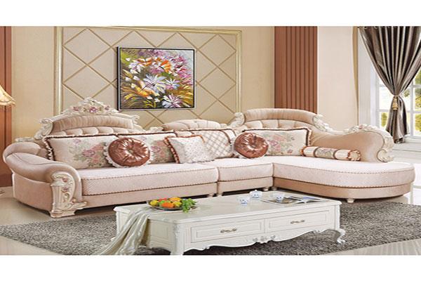 Bộ ghế Sofa vải tân cổ điển
