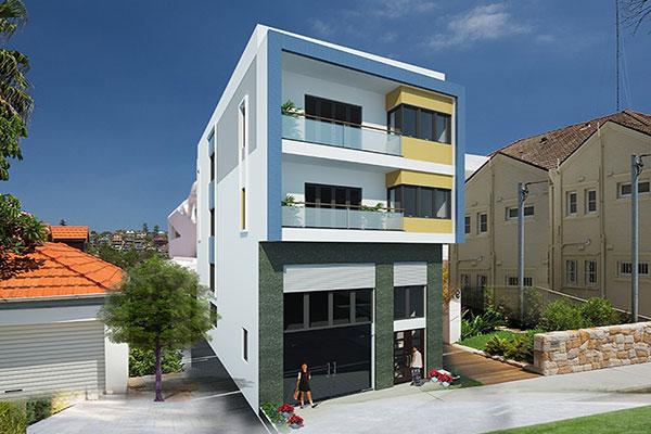 Thiết kế nhà ở kết hợp văn phòng cho thuê có khả năng sinh lời cao.