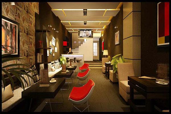 Thiết kế quán cafe văn phòng.