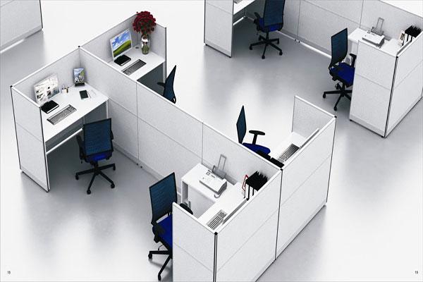 Thiết kế vách ngăn văn phòng cần chọn kiểu dáng vách ngăn phù hợp