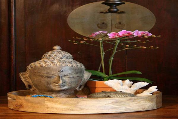 Thiết kế nội thât theo phong cách Á Đông luôn ưu tin có hình ảnh hoa lan