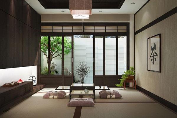 Đặc trưng của phong cách thiết kế nội thất Á Đông là sử dụng bàn trà thấp