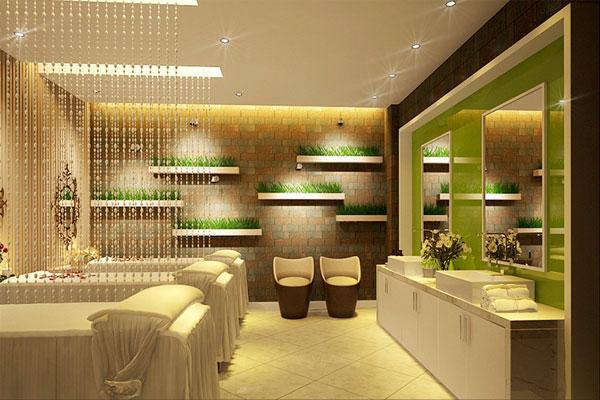 Thiết kế nội thất Spa nên lựa chọn và phối hợp màu sắc khéo léo, đồng bộ