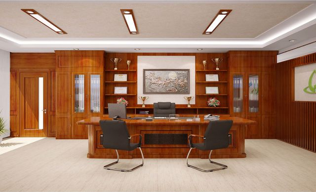 Trong nội thất phòng Giám đốc, tủ tài liệu có vai trò quan trọng