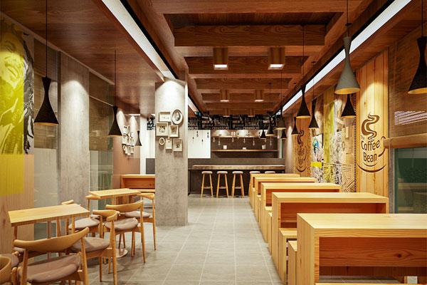 Thiết kế nội thất quán cafe phù hợp với không gian