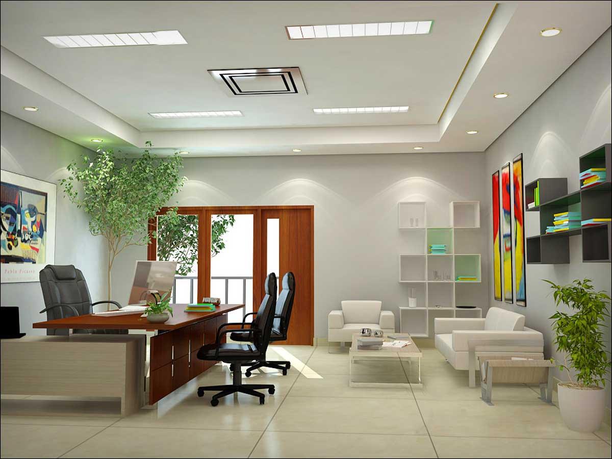 Phòng Giám đốc nhỏ nên ưu tiên sử dụng nội thất sáng màu