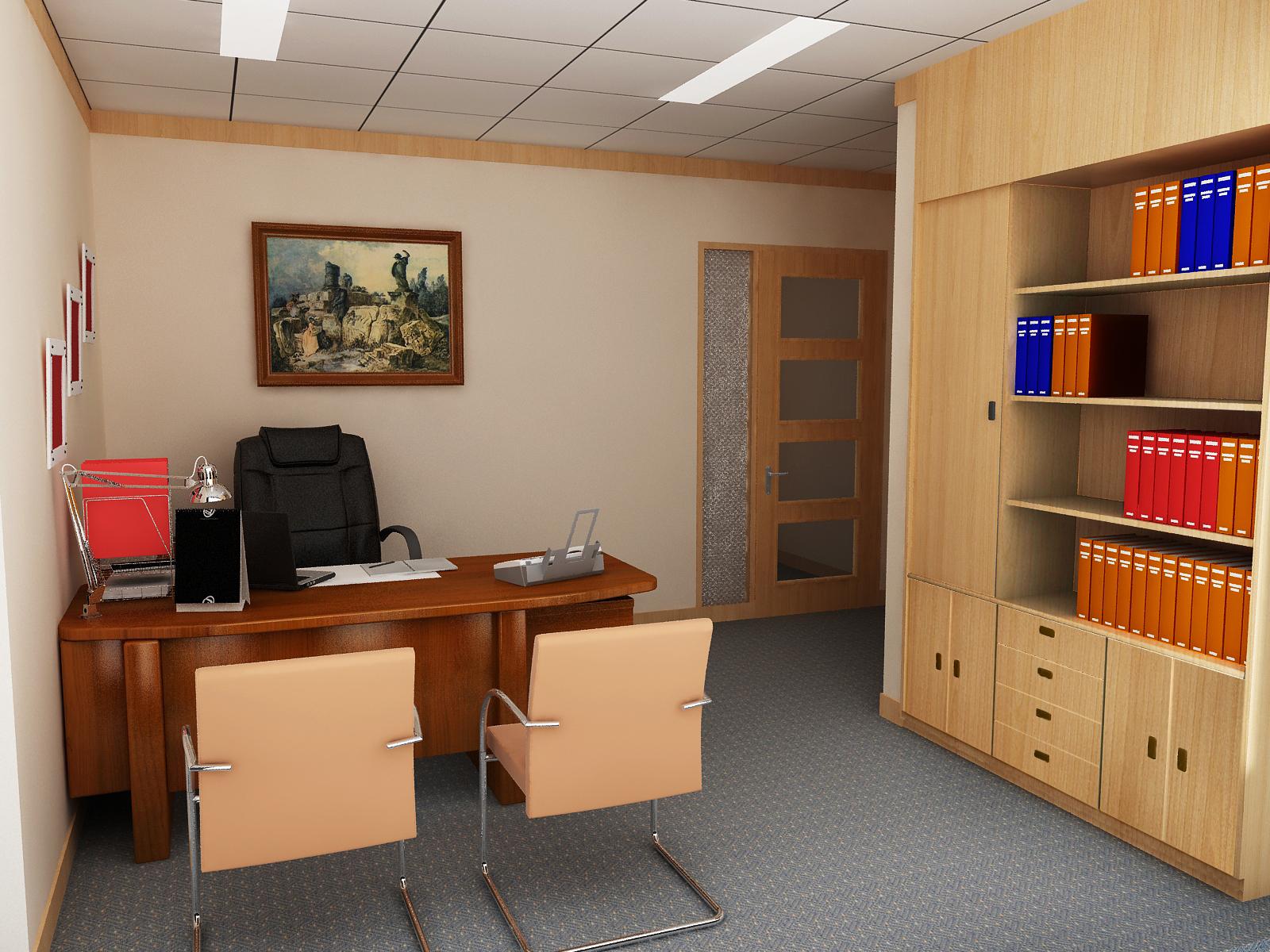 Phòng Giám đốc nhỏ chỉ nên dùng những vật dụng thật sự cần thiết