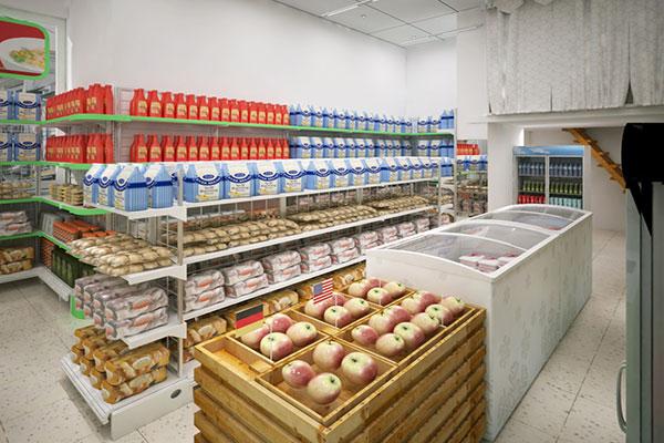 Thiết kế nội thất siêu thị mini hợp lý mang lại sự tiện nghi