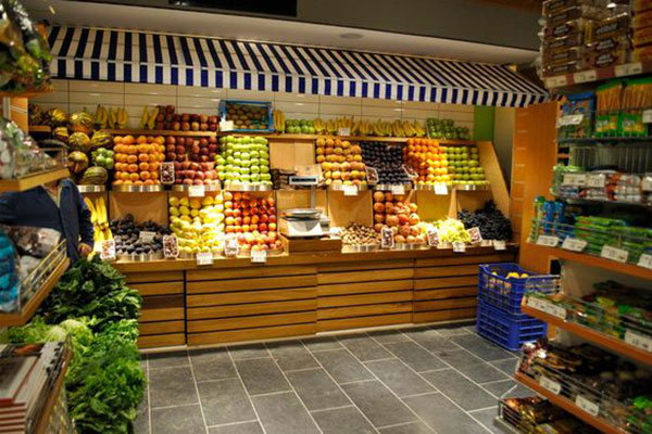 Thiết kế nội thất siêu thị mini cần đặt vị trí giá, kệ phù hợp