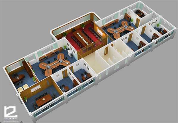 Công ty thiết kế thi công nội thất văn phòng làm việc đẹp, sang trọng