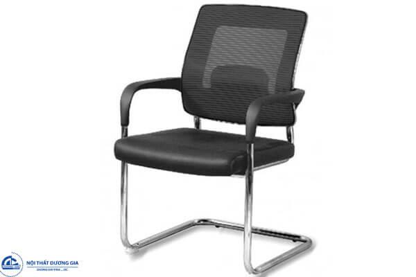 Ghế phòng họp chân quỳ GQ05-M đệm mút tựa lưới