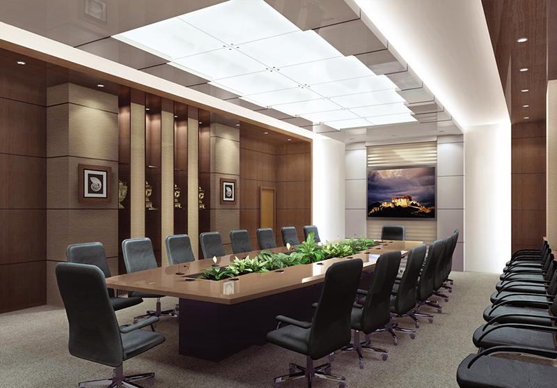 Mẫu thiết kế nội thất phòng họp – 01