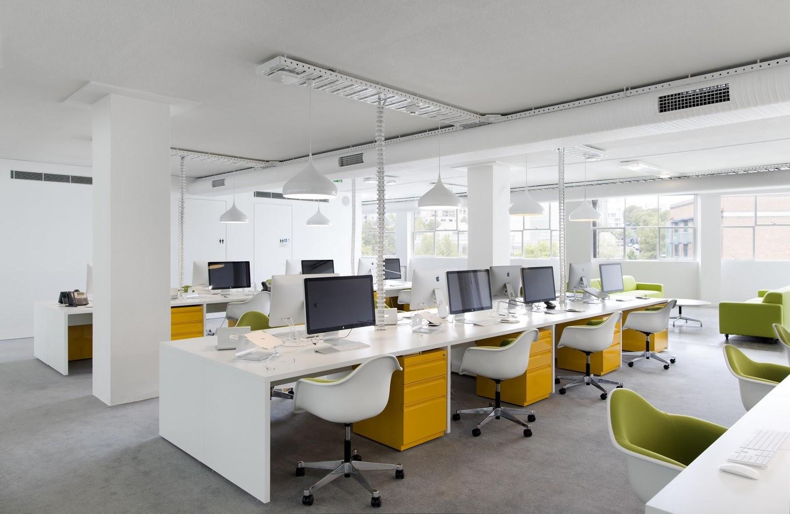 Mẫu thiết kế văn phòng làm việc theo phong cách trẻ trung, năng động
