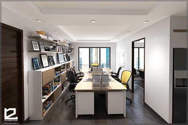 Mẫu thiết kế văn phòng làm việc đẹp theo phong cách trẻ trung, năng động