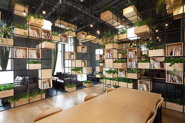 Mẫu thiết kế văn phòng làm việc theo phong hiện đại, mới lạ
