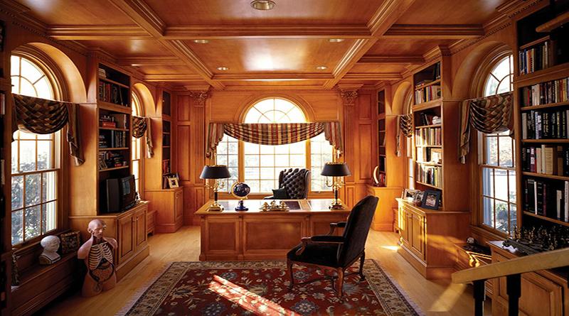 Thiết kế nội thất phòng giám đốc theo phong cách cổ điển mẫu 2