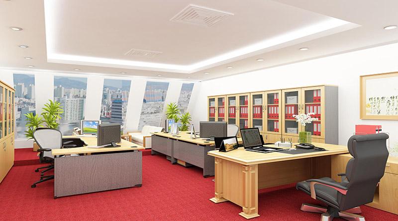 Thiết kế nội thất phòng giám đốc theo phong cách hiện đại mẫu 1